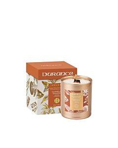 Durance Doftljus Orange-Cinnamon med Träveke