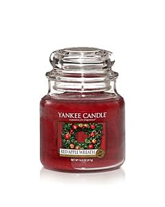 Yankee Candle Red Apple Wreath Medium Jar