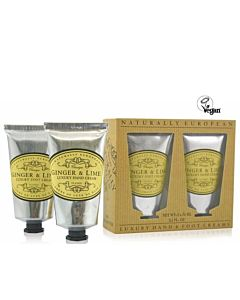 Luxury Hand and Foot Cream Ginger Lime 2 x75ml
