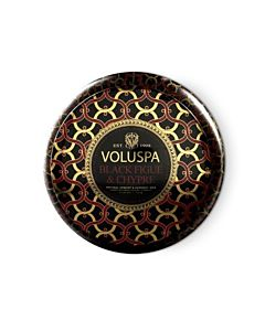 Voluspa Black Figue & Cypress 2-Wick Maison Metallo Candle