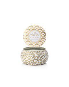 Voluspa Suede Blanc 2- Wick Maison Metallo Candle