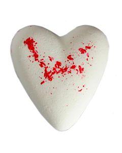 Badbomb Hjärta Vit Mysk