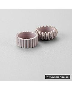 T-Light Ljushållare Keramik Ljuslila Rak