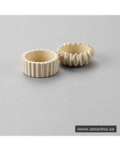 T-Light Ljushållare Keramik Vit Böjd