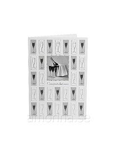 Gratulationskort Partykort Champagne Svartvit